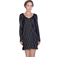 Pattern Dark Black Texture Background Long Sleeve Nightdress