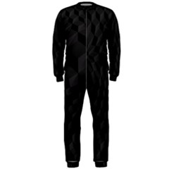 Pattern Dark Black Texture Background Onepiece Jumpsuit (men)