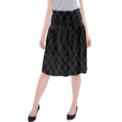 Pattern Dark Black Texture Background Midi Beach Skirt