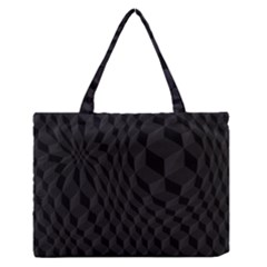 Pattern Dark Black Texture Background Zipper Medium Tote Bag