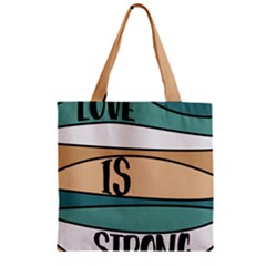 Love Sign Romantic Abstract Zipper Grocery Tote Bag