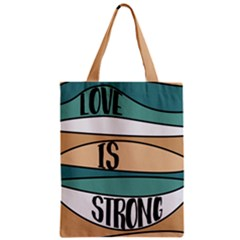Love Sign Romantic Abstract Zipper Classic Tote Bag