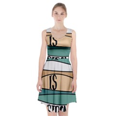 Love Sign Romantic Abstract Racerback Midi Dress