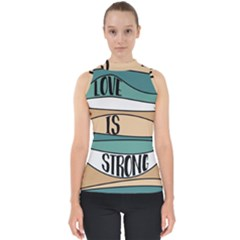 Love Sign Romantic Abstract Shell Top