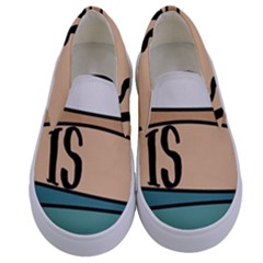 Love Sign Romantic Abstract Kids  Canvas Slip Ons