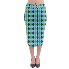 Rockabilly Retro Vintage Pin Up Midi Pencil Skirt