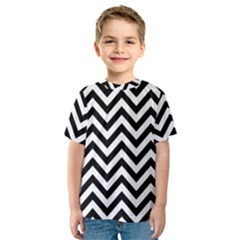 Wave Background Fashion Kids  Sport Mesh Tee