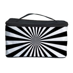 Rays Stripes Ray Laser Background Cosmetic Storage Case by Nexatart