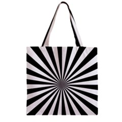 Rays Stripes Ray Laser Background Zipper Grocery Tote Bag