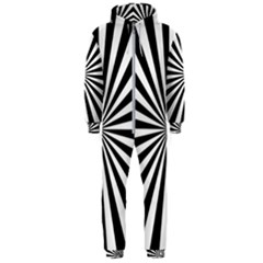 Rays Stripes Ray Laser Background Hooded Jumpsuit (men)
