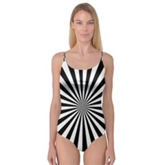Rays Stripes Ray Laser Background Camisole Leotard