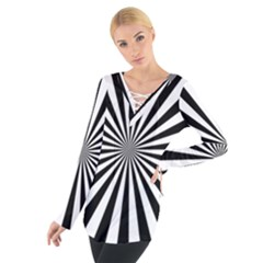 Rays Stripes Ray Laser Background Tie Up Tee