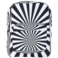 Rays Stripes Ray Laser Background Full Print Backpack