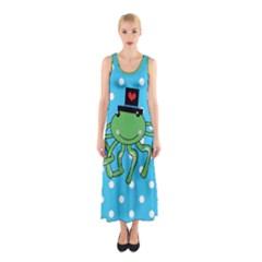 Octopus Sea Animal Ocean Marine Sleeveless Maxi Dress
