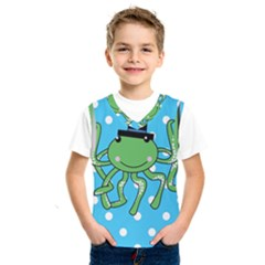 Octopus Sea Animal Ocean Marine Kids  Sportswear by Nexatart