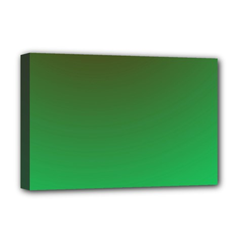 Course Colorful Pattern Abstract Green Deluxe Canvas 18  X 12