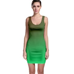 Course Colorful Pattern Abstract Green Bodycon Dress