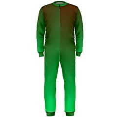 Course Colorful Pattern Abstract Green Onepiece Jumpsuit (men)