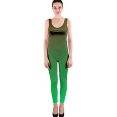 Course Colorful Pattern Abstract Green Onepiece Catsuit