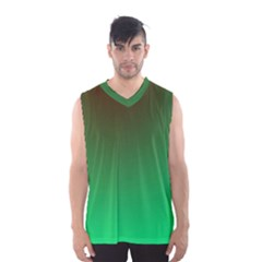 Course Colorful Pattern Abstract Green Men s Basketball Tank Top