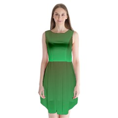 Course Colorful Pattern Abstract Green Sleeveless Chiffon Dress