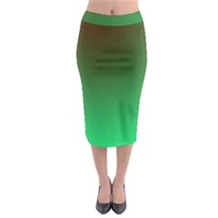 Course Colorful Pattern Abstract Green Midi Pencil Skirt