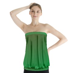 Course Colorful Pattern Abstract Green Strapless Top