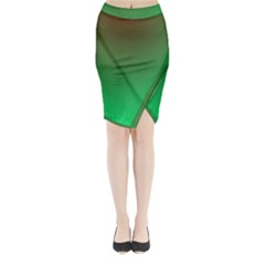 Course Colorful Pattern Abstract Green Midi Wrap Pencil Skirt