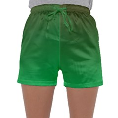 Course Colorful Pattern Abstract Green Sleepwear Shorts