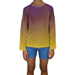 Course Colorful Pattern Abstract Kids  Long Sleeve Swimwear