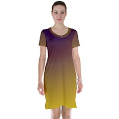 Course Colorful Pattern Abstract Short Sleeve Nightdress