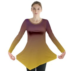 Course Colorful Pattern Abstract Long Sleeve Tunic