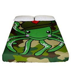Octopus Army Ocean Marine Sea Fitted Sheet (california King Size)