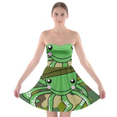 Octopus Army Ocean Marine Sea Strapless Bra Top Dress