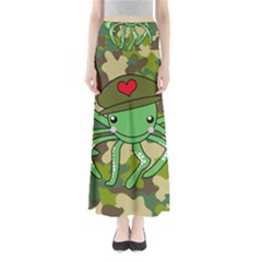 Octopus Army Ocean Marine Sea Full Length Maxi Skirt
