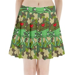 Octopus Army Ocean Marine Sea Pleated Mini Skirt