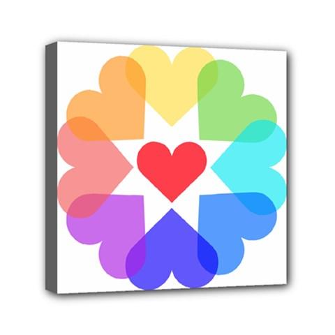 Heart Love Romance Romantic Mini Canvas 6  X 6  by Nexatart