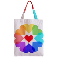 Heart Love Romance Romantic Zipper Classic Tote Bag