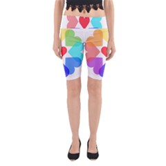 Heart Love Romance Romantic Yoga Cropped Leggings