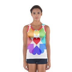 Heart Love Romance Romantic Sport Tank Top