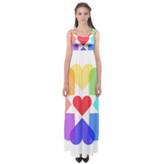 Heart Love Romance Romantic Empire Waist Maxi Dress