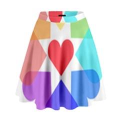 Heart Love Romance Romantic High Waist Skirt