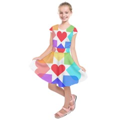 Heart Love Romance Romantic Kids  Short Sleeve Dress