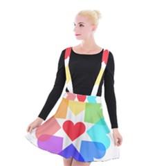 Heart Love Romance Romantic Suspender Skater Skirt