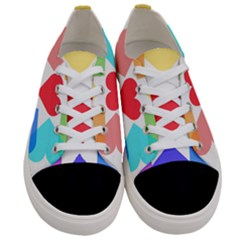 Heart Love Romance Romantic Women s Low Top Canvas Sneakers