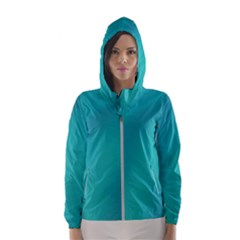 Background Image Background Colorful Hooded Wind Breaker (women)