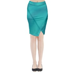 Background Image Background Colorful Midi Wrap Pencil Skirt