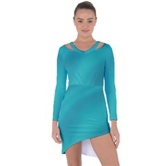 Background Image Background Colorful Asymmetric Cut Out Shift Dress