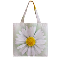 Art Daisy Flower Art Flower Deco Zipper Grocery Tote Bag by Nexatart
