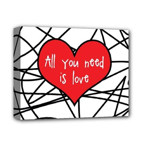 Love Abstract Heart Romance Shape Deluxe Canvas 14  X 11  by Nexatart